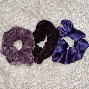 Set of 3 Purple Scrunchies!
